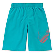 Nike® Big Swoosh Swim Trunks - Preschool Boys 4-6