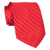 Stafford® Grid Silk Tie – Extra Long