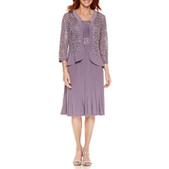 R & M Richards Long Sleeve Jacket Dress