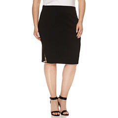 Bisou Bisou Pencil Skirt Plus