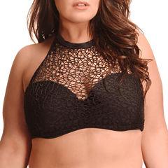 Paramour Brocade Halter Swimsuit Top-Plus