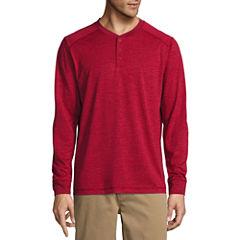 St. John's Bay Long Sleeve Performance Henley Shirt