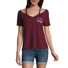 Short Sleeve V Neck Graphic T-Shirt