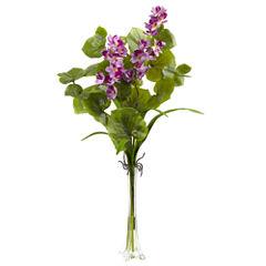 Lotus & Orchid Silk Floral Arrangement