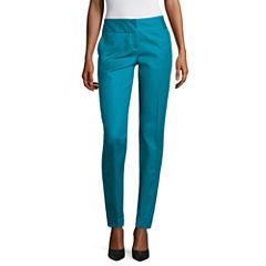 Worthington Slim Fit Wide-Waistband Pants