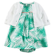 Carter's® Sleeveless Floral Dress and Cardigan Set - Baby Girl newborn-24m
