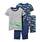 Carter's® 4-pc. Gator Pajama Set - Baby Boys newborn-24m