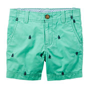 Carter's® Teal Print Twill Shorts - Toddler Boys 2t-5t