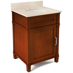 25 IN Williamsburg Bath Vanity Base with Galala Marble Top