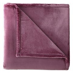 JCPenney Home Velvet Plush Back to Campus Solid Throw
