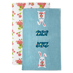 JCPenney Home Hoppy Easter 2-pc. Kitchen Towel