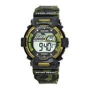 Armitron® Mens Green Camo Digital Strap Watch