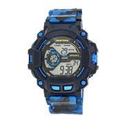 Armitron® Mens Blue Camo Digital Strap Watch