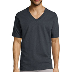 Stafford® 3-pk. Short-Sleeve Heavyweight V-Neck Tees - Big & Tall