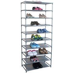 Home Basics 30-Pair Non-Woven Shoe Shelf