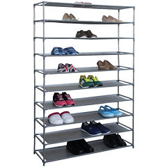 Home Basics 50-Pair Metal Shoe Shelf