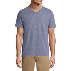 St. John's Bay Short Sleeve Slim Fit V Neck T-Shirt
