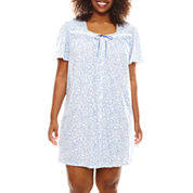 Earth Angels® Flutter-Sleeve Nightgown - Plus