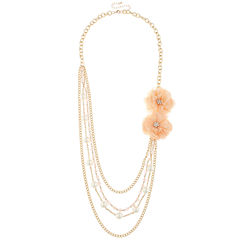 Decree® Rose Multi-Layer Necklace