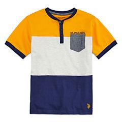 U.S. Polo Assn. Short Sleeve Henley Shirt - Big Kid Boys