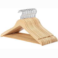 Whitmor 16-pc. Wood Suit Hanger Set