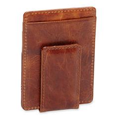 Claiborne® Leather Wallet w/ Magnet Clip