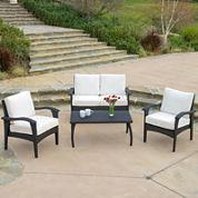Honolulu 4-pc. Wicker Outdoor Sofa Set
