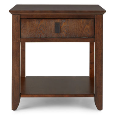 "Park Row 27Wx23Dx24""H End Table (Brown)"