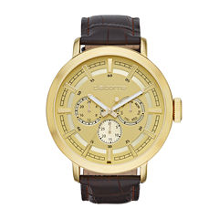 claiborne men s watches for jewelry watches jcpenney claiborne® mens brown leather strap watch