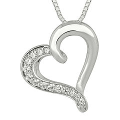 1/4 CT. T.W. Diamond Sterling Silver Heart Pendant Necklace