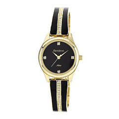 Armitron® Now® Womens Crystal-Accent Gold-Tone Open Bangle Watch