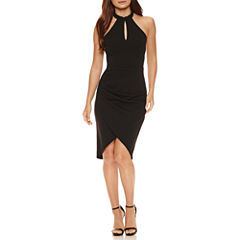 Bisou Bisou Halter Sheath Dress