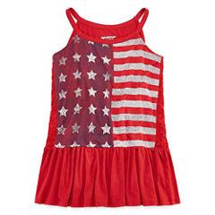 Arizona Americana Peplum Tank Top - Girls' 7-16 and Plus