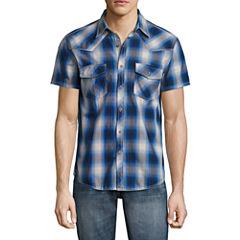 Decree Short Sleeve Ombre Button-Front Shirt