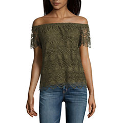 a.n.a Lace Off the Shoulder Blouse