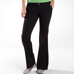 Arizona Schoolgirl Bootcut Pants-Juniors
