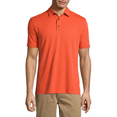 St. John's Bay Short Sleeve Solid Knit Polo Shirt