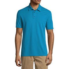 St. John's Bay Short Sleeve Solid Knit Polo Shirt