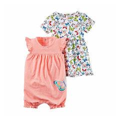 Carter's Girl 2-pk. Sleeveless Rompers - Baby