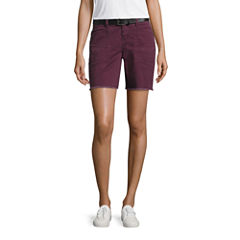 Union Bay Belted Bermuda Shorts-Juniors