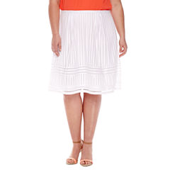Worthington® Pleated Lace Skirt - Plus
