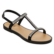 Mixit™ Rhinestone Jelly Strappy Slide Sandals