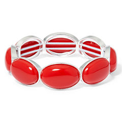 Liz Claiborne® Red Gold-Tone Oval Stretch Bracelet