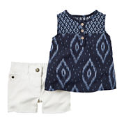Carter's® 2-pc. Sleeveless Top and Shorts Set - Baby Girls newborn-24m