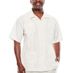 Havanera™ Short-Sleeve Guayabera Button-Front Camp Shirt - Big & Tall