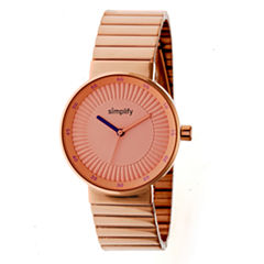 Simplify The 4600 Unisex Rose Goldtone Bracelet Watch-Sim4604