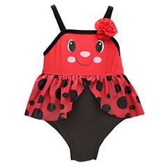 Candlesticks Ladybug One Piece Swimsuit Baby Girls