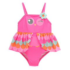 Candlesticks Owl One Piece Swimsuit Baby Girls