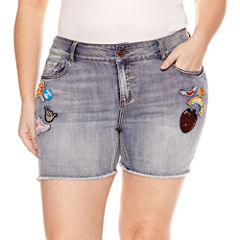 Indigo Rein Denim Shorts-Juniors Plus