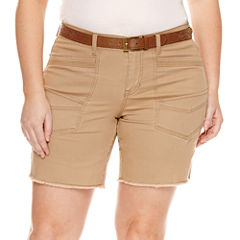 Union Bay Midi Shorts-Juniors Plus